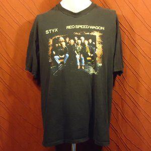 Styx - REO Speedwagon - 2001 Tour - T-shirt - Blac